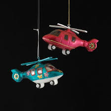 buy pack of 8 noble gem glass helicopter ornaments 4 75