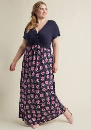 floral maxi dress overseas ease dress floral maxi dress in navy modcloth