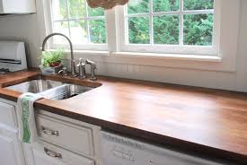 furniture wood butcher block countertops with oven and sink for
