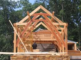 Hamill Creek Timber Homes Sugarloaf Cruck Frame By Finch Woodworks Timber Frames Pinterest