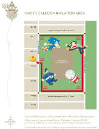macy s thanksgiving day parade balloon inflation map 2011 nyc