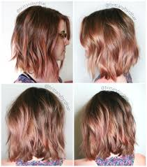 rose gold lowlights on dark hair rose gold balayage by brittanybyrdhair tresses pinterest