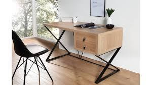bureau design industriel bureau design industriel xav avec des pieds métalliques en x deux