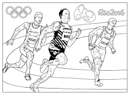 rio 2016 olympic games athletism olympic sport coloring