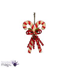 gisela graham tin double candy cane bow berries christmas xmas