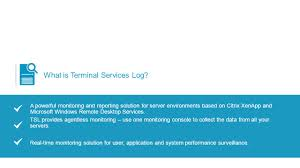 product demo terminal services log by acceleratio acceleratio ltd