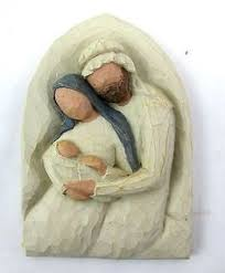 holy family metal edged ornament a child is born 10 7 want