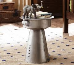 Metal Drum Accent Table Metal Drum Side Table U2013 Table Idea