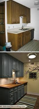 kitchen improvement ideas before and after teeny tiny kitchen cheap makeover what an