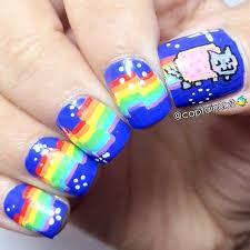 gato cósmico uñas cosmic cat nail design uñas decoradas con