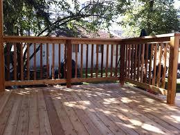porch railing ideas diy wooden porch handrail idea deck materials