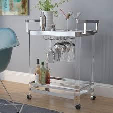 modern wine glasses rack bar carts allmodern