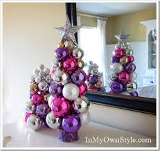 ornament christmas tree made with knitting needle super easy