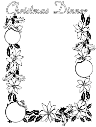christmas clipart black white collection