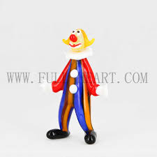 new arrival murano glass clown ornaments for buy small
