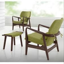 Mid Century Modern Outdoor Furniture Baxton Studio Dobra Mid Century Walnut Finished Modern Green