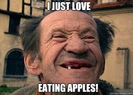 Toothless Meme - i just love eating apples toothless bob quickmeme