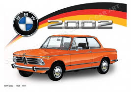 bmw car posters bmw 2002 tii ti illustrated artwork poster print limited