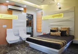 Orange Bedroom With White Marble Flooring Design Photos Marble Floors In Bedroom