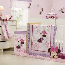 Mini Crib Bedding Sets For Girls by Home Design Kids Bedroom Cheerful Mini Mouse Piece Pink Ba