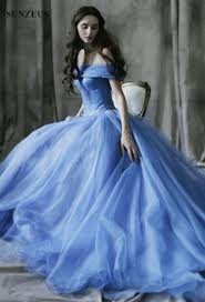 Wedding Dresses Light Blue Ball Gown Light Blue Wedding Gown Off The Shoulder Boat Neck Floor