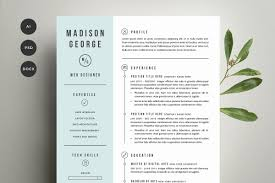 resume u0026 cover letter template resume templates creative market