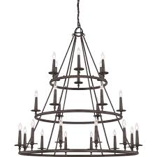 3 Tier Chandelier Quoizel Voyager 24 Light Malaga 3 Tier Chandelier Free Shipping
