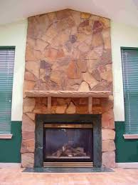 natural stone fire place with mantel fireplace shelves natural