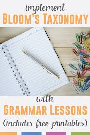 teaching grammar via bloom u0027s taxonomy language arts classroom