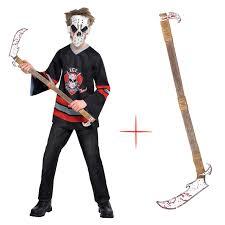 lacrosse halloween costume boy teen halloween ice zombie bloody face off fancy dress costume