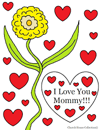 i love you mommy coloring pages
