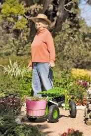 gardening picture garden scoot rolling garden seat gardeners com