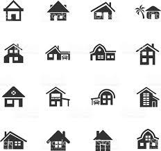house type icon set stock vector art 612254370 istock