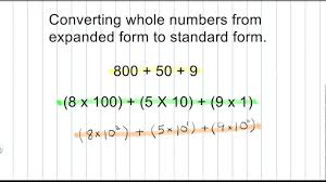 numbers in expanded form math numeration how to convert a whole number from expanded form
