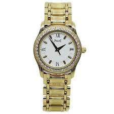 piaget tanagra piaget yellow gold diamond bezel polo quartz wristwatch for