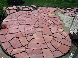 Building Flagstone Patio This Grandmother U0027s Garden A Giant Puzzle Part Two Of Our Diy