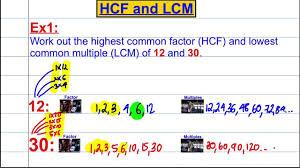 hcf u0026 lcm listing youtube
