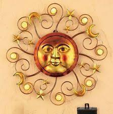 Sun Wall Decor Outdoor Handcrafted Sun And Moon Metal Wall Art U2022 Recycled Sun And Moon