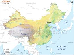 rivers in china map river map