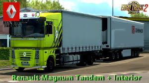 renault truck magnum renault magnum tandem interior v1 0 1 28 x download ets 2