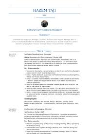 Technical Project Manager Resume Examples by Software Development Manager Resume Samples Visualcv Resume