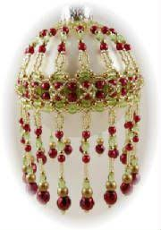 cleopira beaded christmas ornament cover pattern beaded