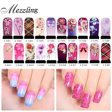 water transfer nail decals 10sheets lot full cover mix flowers