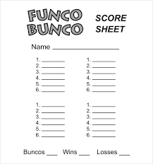 bunco score sheets template 10 download documents in pdf psd
