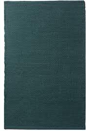 Emerald Solid Emerald Green Flatweave Eco Cotton Rug Hook U0026 Loom