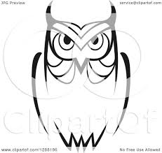 clipart owl black and white clipart of a black and white sketched owl royalty free vector