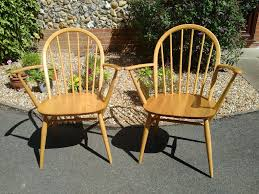 Windsor Armchairs Pair Stunning Blonde Ercol Windsor Carver Chairs Blonde Ercol