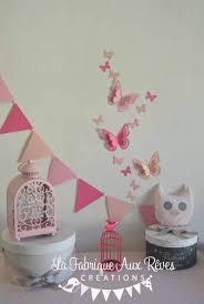 decoration chambre fille papillon décoration chambre enfant bébé fille dégradé poudré vif