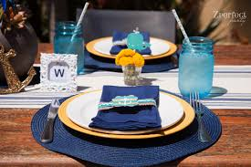 baby shower table settings party ahoy it s a boy nautical baby shower creative juice