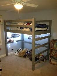 Free Loft Bed Woodworking Plans by Free Woodworking Plans To Build A Full Size Low Loft Bunk Boy